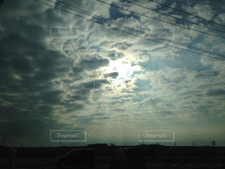 朝の空の定点撮影の写真・画像素材[1795240]
