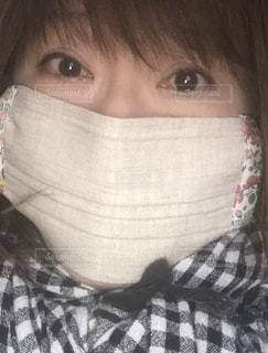 布マスクの写真・画像素材[3451460]