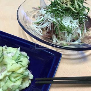 暑い日のさっぱり手作りお惣菜の写真・画像素材[3595151]