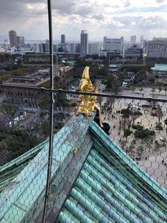 大阪城の天守閣からの景色の写真・画像素材[1782943]