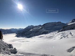 スイスの雪山の写真・画像素材[1784865]
