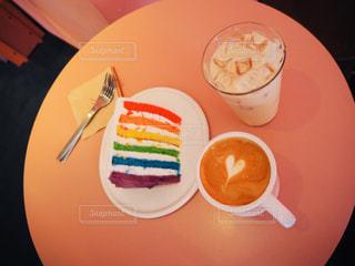 レインボーケーキの写真・画像素材[1835825]
