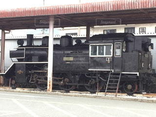 古い機関車の展示の写真・画像素材[1791196]