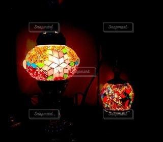 ランプの灯りの写真・画像素材[3450270]
