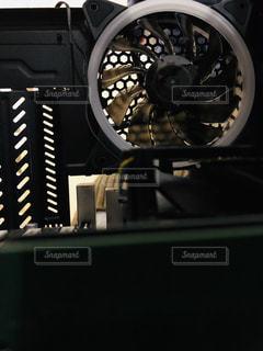 パソコンの中のファンの写真・画像素材[1797955]