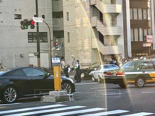 交差点での事故の写真・画像素材[2602047]