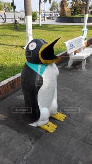 ペンギンのゴミ箱の写真・画像素材[1802561]