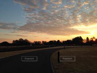 朝日が昇る公園の写真・画像素材[1863139]