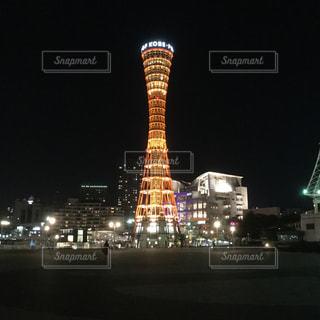 夜の街の景色 神戸の写真・画像素材[1802700]