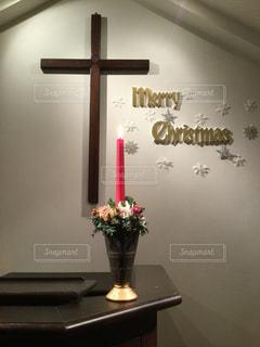 クリスマス礼拝の写真・画像素材[1802703]