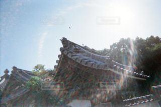 寺院のドアップの写真・画像素材[1853552]