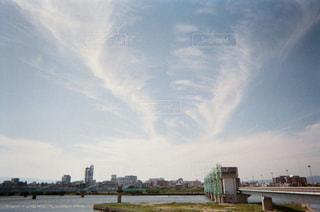 河川敷と空の写真・画像素材[1853570]