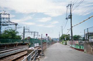 線路と空の写真・画像素材[1853582]