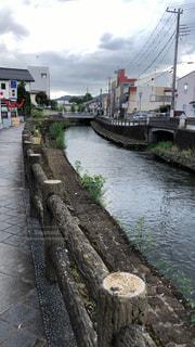 栃木県栃木市の川の風景の写真・画像素材[3110680]