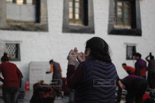 チベタンの祈りの写真・画像素材[1800369]