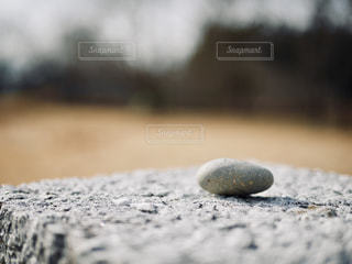 石碑の上の小石の写真・画像素材[1828436]