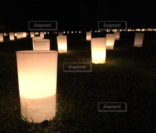 夜の奈良燈花会の写真・画像素材[1813195]