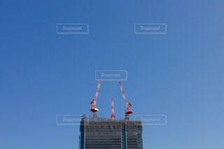工事中のビルの写真・画像素材[2021095]