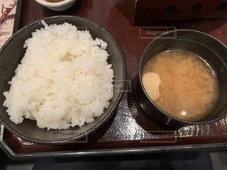 白ご飯と味噌汁の写真・画像素材[2046809]