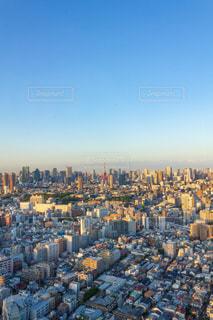 夕暮れの東京タワーと街並みの写真・画像素材[2247163]