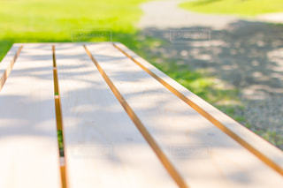 旧芝離宮恩賜庭園のベンチの写真・画像素材[2247180]
