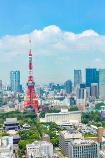 東京タワーと街並みの写真・画像素材[2247260]