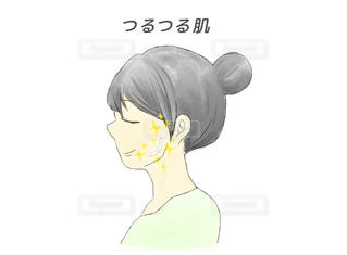 つるつる肌の女性のイラストの写真・画像素材[2248410]