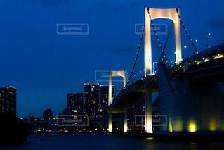 レインボーブリッジの夜景の写真・画像素材[2277444]