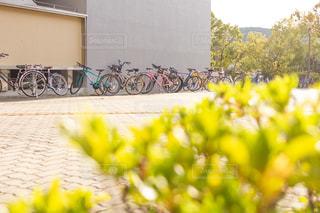 学校の自転車置き場の写真・画像素材[2953365]