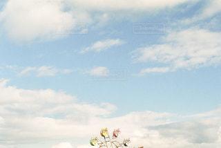 青空と観覧車のフィルム写真の写真・画像素材[3082032]