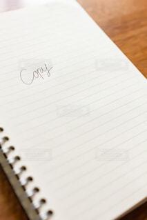 コピーライティングを考えているノートの写真・画像素材[3866634]
