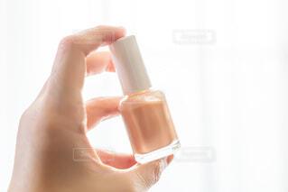 春色パステルカラー ピンクのネイル マニュキアの写真・画像素材[4034781]