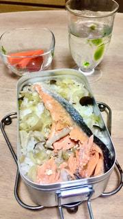 メスティンの鮭の炊き込みご飯。の写真・画像素材[2225240]
