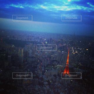 東京タワーとスカイツリーの写真・画像素材[1805769]