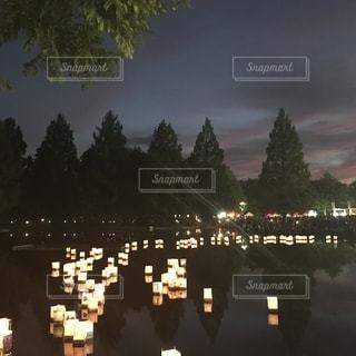 灯籠流しの写真・画像素材[2460072]