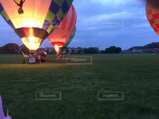 熱気球ナイトフライトの写真・画像素材[1810518]