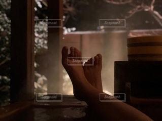 冬の露天風呂の写真・画像素材[1810245]