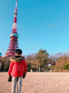 東京タワーと子供の写真・画像素材[1863018]