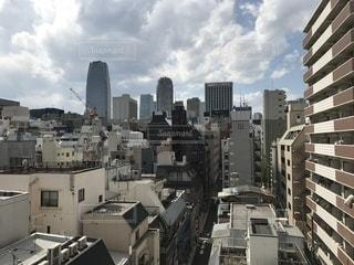 都会の屋上から撮ったビル群の写真・画像素材[1806985]