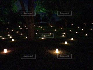 たくさんの灯火の写真・画像素材[1807774]