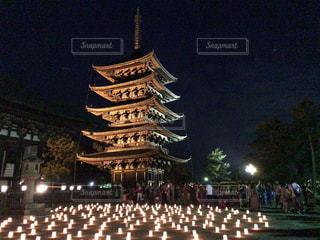 塔のライトアップイルミネーションの写真・画像素材[1807775]