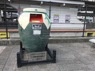 宇治駅の石像ポストの写真・画像素材[2741482]