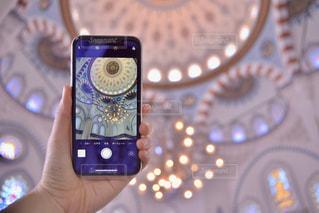 携帯電話のクローズアップの写真・画像素材[2310301]