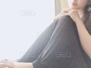 黒のスカートの写真・画像素材[2135691]
