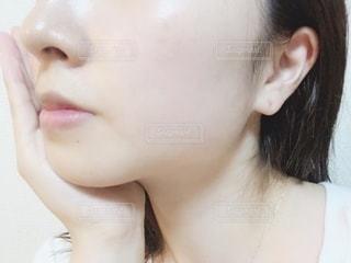 すっぴん肌の写真・画像素材[2149556]