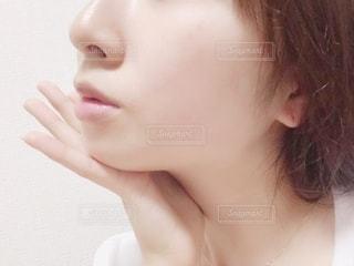すっぴん肌の写真・画像素材[2150421]