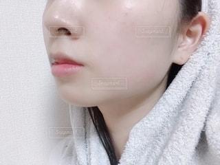 すっぴん肌の写真・画像素材[2162005]