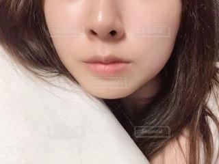 すっぴん肌の写真・画像素材[2167202]