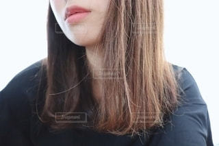 髪の毛の自撮りの写真・画像素材[2232434]