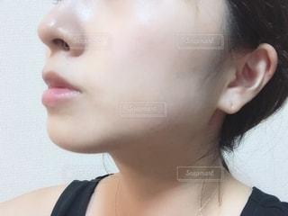肌の自撮りの写真・画像素材[2275326]